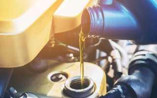 Объем моторного масла в двигателе