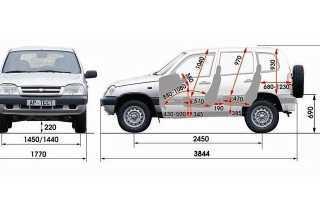 Объем багажника нива шевроле в литрах