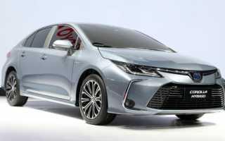 Тойота королла 2020 новый кузов