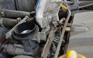 Чистка дроссельной заслонки на заведенном двигателе