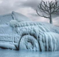 При какой температуре замерзает вода в двигателе