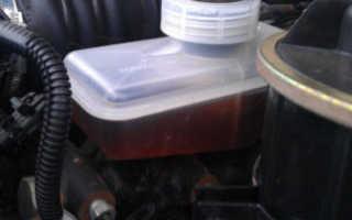 Проверка уровня тормозной жидкости