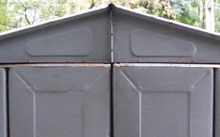 Размер ижорского металлического гаража