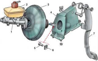 Снятие вакуумного усилителя тормозов ваз 2110