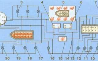 Панель приборов ваз 2109 схема и подключение