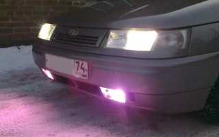 Ксенон светит фиолетовым цветом