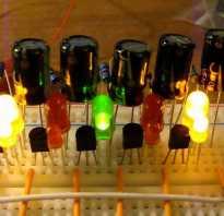 Бегущие огни на светодиодах своими руками схема