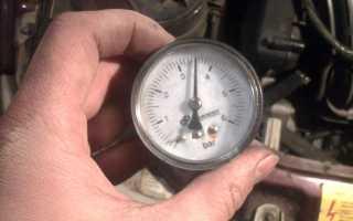 Признаки низкого давления топлива