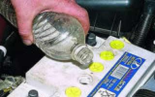 Сколько должно быть электролита в акб