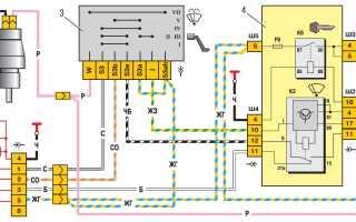 Схема подключения мотора стеклоочистителя ваз 2110